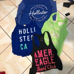 Hollister & American eagle tank long sleeve bundle